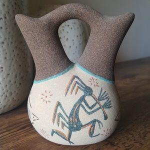 Native American Navajo Sand Art Wedding Vase
